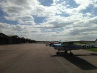 The airport of Gamston Flying School