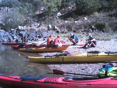 Kayak route in Ribeira Sacra and Miño