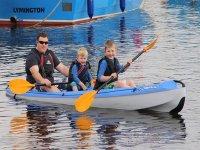 Kids having fun while paddling