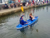Paddling in a double seater