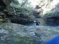Instructor Abseiling Maentwrog Gorge
