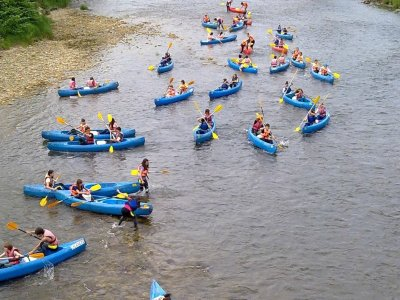 Descending Sella River from Arriondas, Children