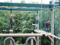 Playing on the highropes course