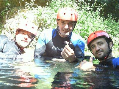 Canyoning in Bercolón, Tuéjar, 5 hours