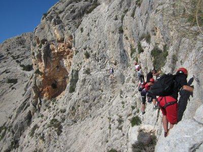 Las Marujas Via Ferrata, in Tabernes de Valldigna