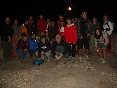 Night hiking, stars raining Perseidas
