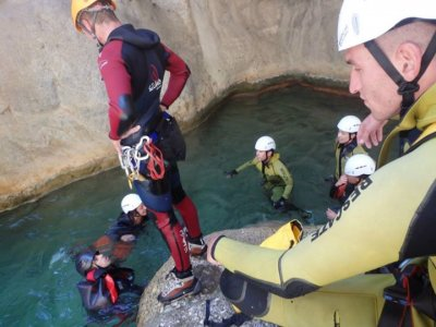 Descent of the canyons of Bermejo, 2 hours