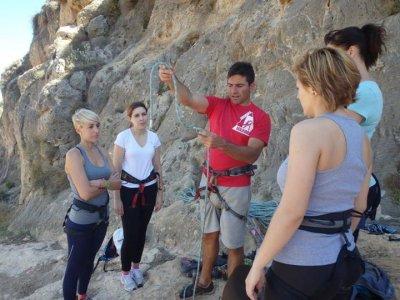 Rock climbing, abseiling + zip line, La Garrofa