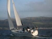 Cruising off the west coast of Scotland