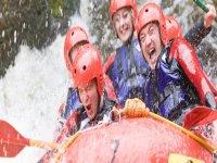 White water rafting fun
