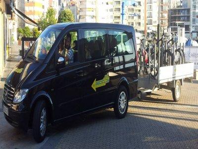 Electric bike routein Rias Baixas