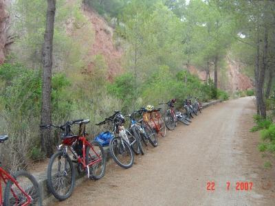 MTB tour for students in Reserva de Sebes, Flix