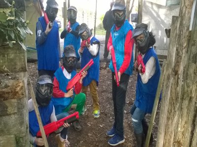 Paintball children in Viveda with 100 balls