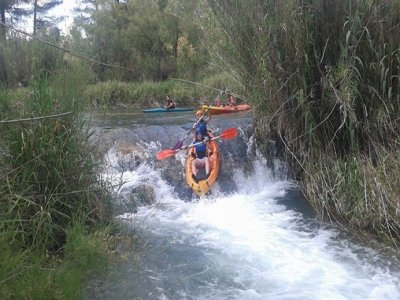 Raft canoe over Cabriel River+accomodation