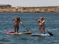 SUP girls lesson