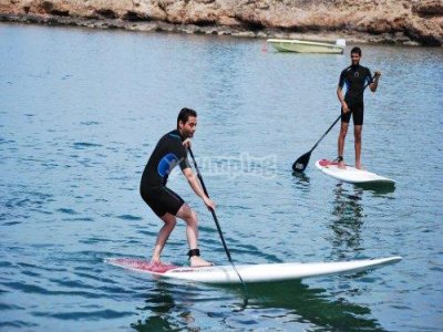 Stand-up paddle surfing, Playa d'en Bossa, 2 hours