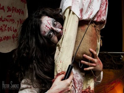 Halloween night in Toledo with dramatised route