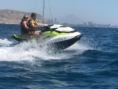 One-Seater Jet Ski Route to Tabarca + Meal