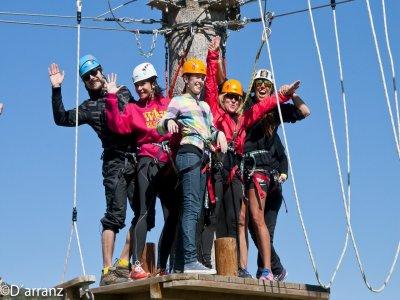 Ropes course Lozoya del Valle and multi-adventure