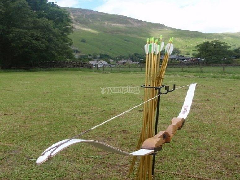 Arrow and bow
