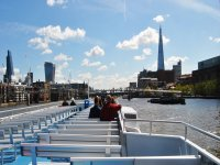 Boat tour on the River Thames