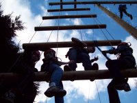 Give yourself a challenge on the high ropes.