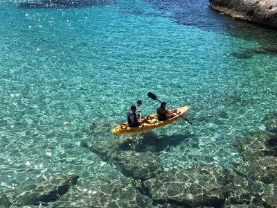 Two-seater kayak rental in Tamarit 2 hours