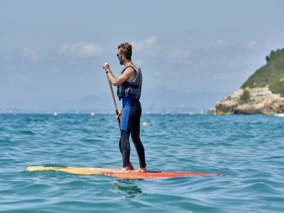 Paddle surfing guided route in Altafulla 1 day