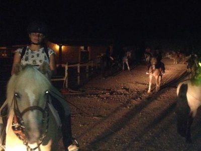 Horse riding route under a full moon, Ibiza, 1h