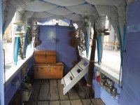 The interior of our boat