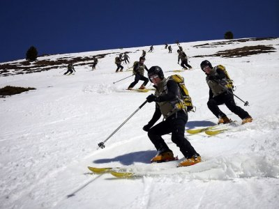 Ski course, 4 days, material + ski pass