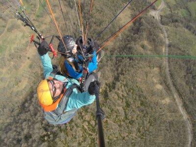 Tandem Paraglide Flight Baptism in La Muela