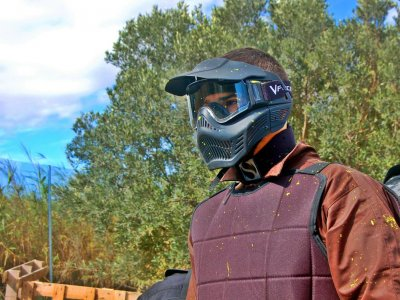 Paintball game + meal in Teruel