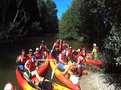 Canoeing trip on the Tiétar river in Cáceres