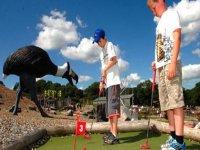 Dinosaur crazy golf
