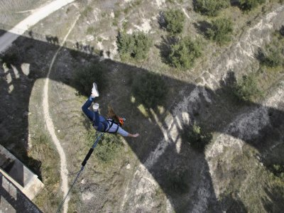 2 bungee jumps 50 m in Alicante + video