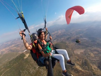 20 min paragliding with instructor in Huelva