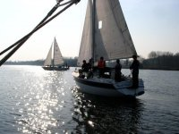 Sailing is a fun activity to do.