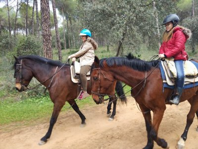 2 hours of Horse riding and carriage riding