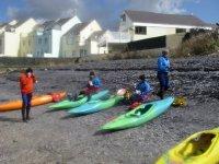 We use sea kayaks