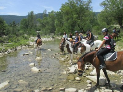 Horse riding around Jaca 1 hour