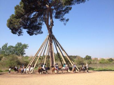 Horse-riding camp at Holy Week, Barcelona