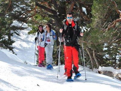 Snow shoes Route Navacerrada