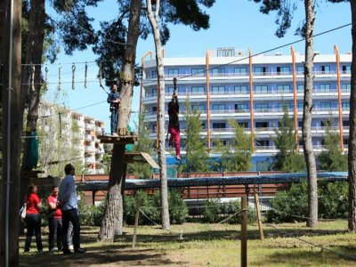 Bachelor party in themed park Salou