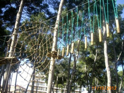 Zipline in Salou for little birthday kids