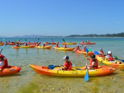 Kayaking for schools in Carreirón Natural Park