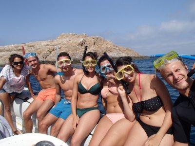 Snorkeling trip to San Andres isle, Almeria