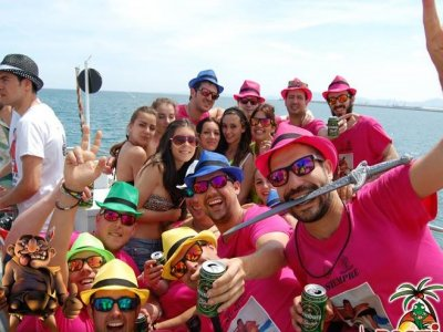 Boat party in the beach of Gandía, saturday