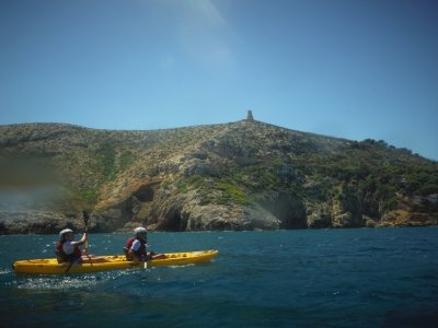 Kayaking route through Denia Caves and Snorkel 2h