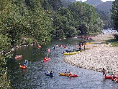 Kayak route in the Sella from Las Rozas Niños